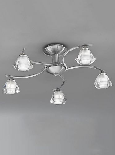 Franklite FL2294/5 Satin Nickel Ceiling Light